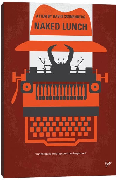 Naked Lunch Minimal Movie Poster Canvas Print #CKG590