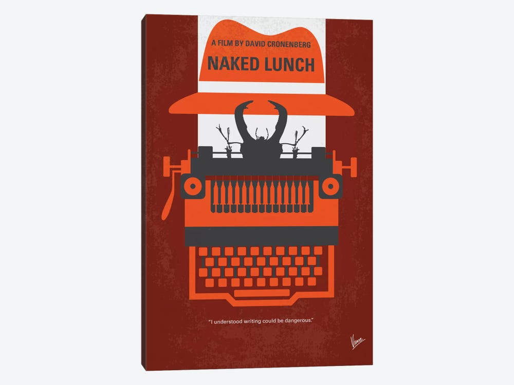 Naked Lunch Minimal Movie Poster by Chungkong 1-piece Canvas Artwork