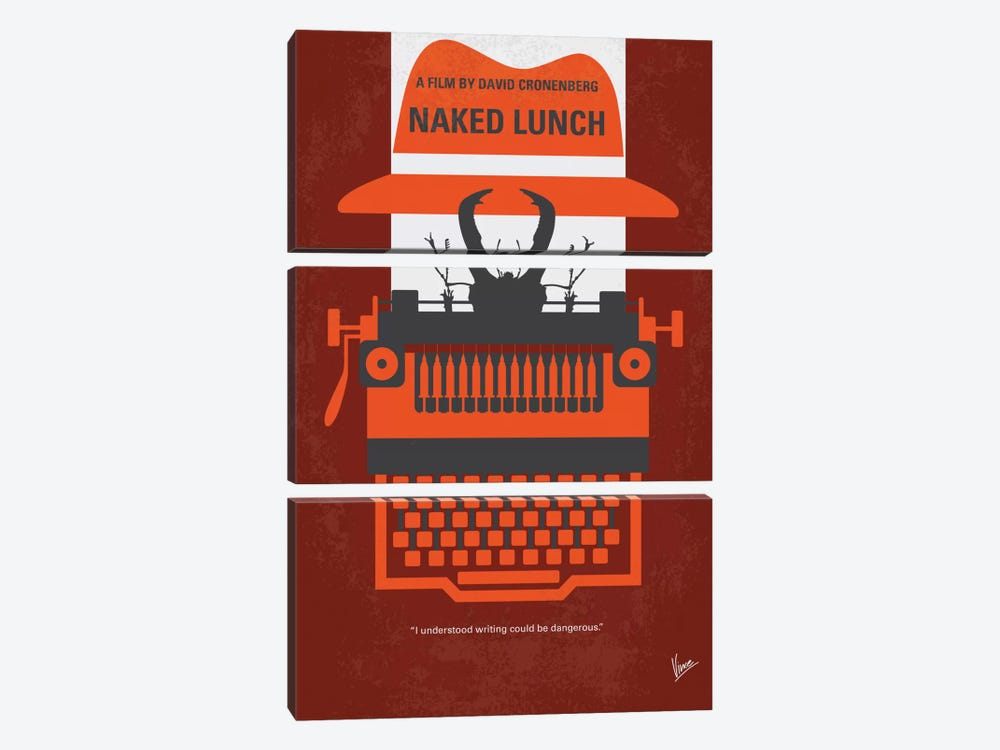 Naked Lunch Minimal Movie Poster 3-piece Canvas Wall Art