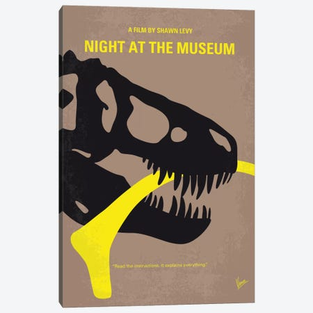 Night At The Museum Minimal Movie Poster Canvas Print #CKG591} by Chungkong Canvas Art Print