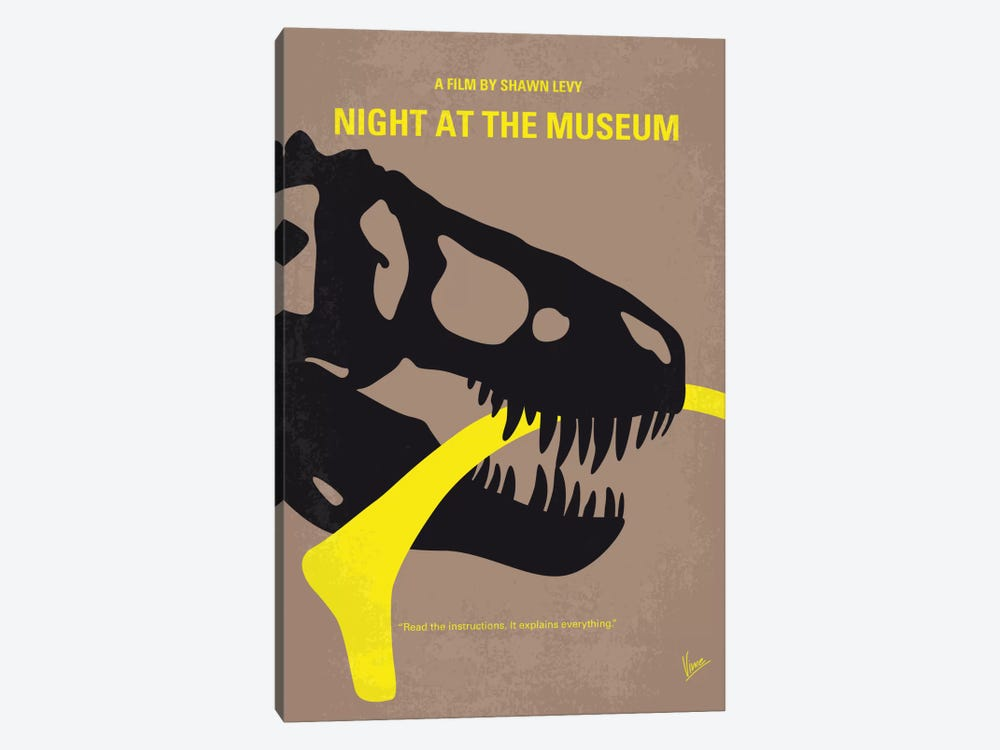 Night At The Museum Minimal Movie Poster by Chungkong 1-piece Art Print