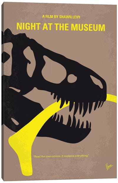 Night At The Museum Minimal Movie Poster Canvas Art Print