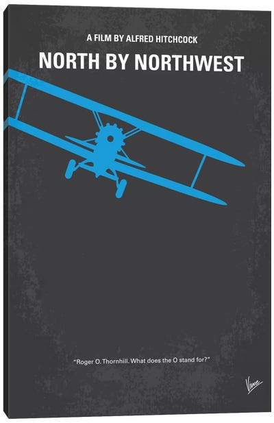 North By Northwest Minimal Movie Poster Canvas Art Print