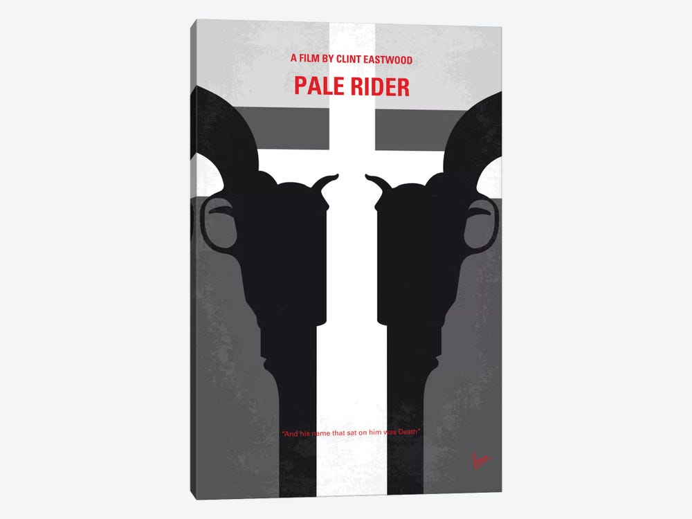 Pale Rider Minimal Movie Poster by Chungkong 1-piece Canvas Art