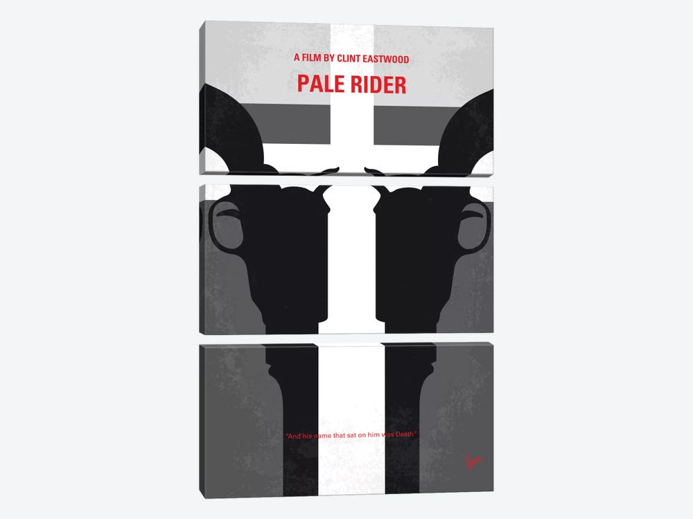 Pale Rider Minimal Movie Poster by Chungkong 3-piece Canvas Artwork