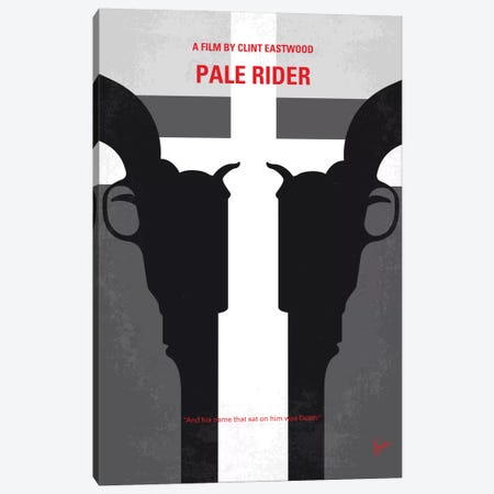 Pale Rider Minimal Movie Poster Canvas Print #CKG594} by Chungkong Canvas Art
