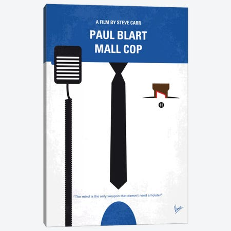Paul Blart: Mall Cop Minimal Movie Poster Canvas Print #CKG595} by Chungkong Canvas Wall Art