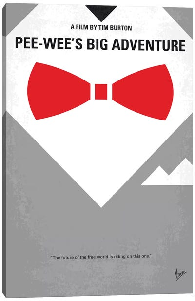 Pee-wee's Big Adventure Minimal Movie Poster Canvas Art Print