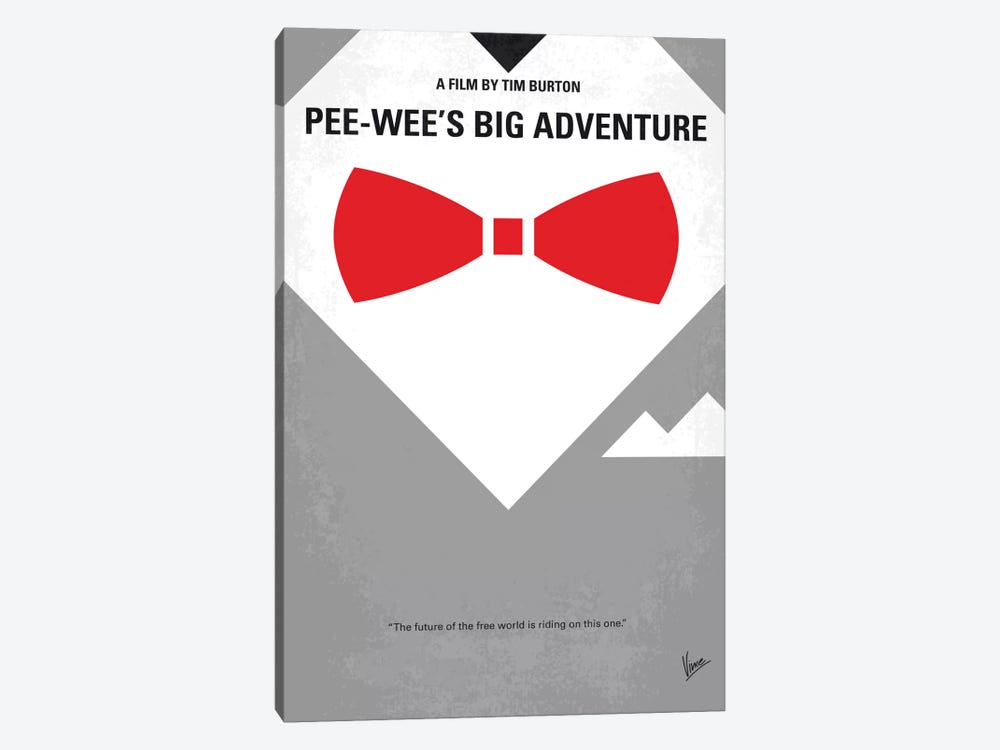 Pee-wee's Big Adventure Minimal Movie Poster by Chungkong 1-piece Canvas Art