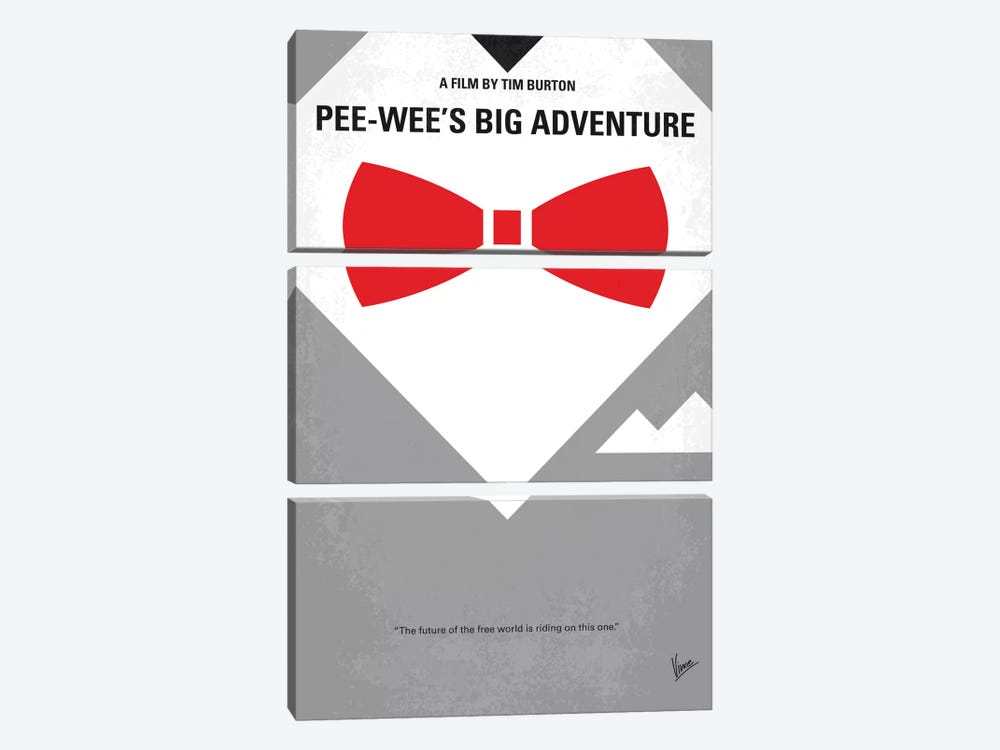 Pee-wee's Big Adventure Minimal Movie Poster by Chungkong 3-piece Canvas Artwork