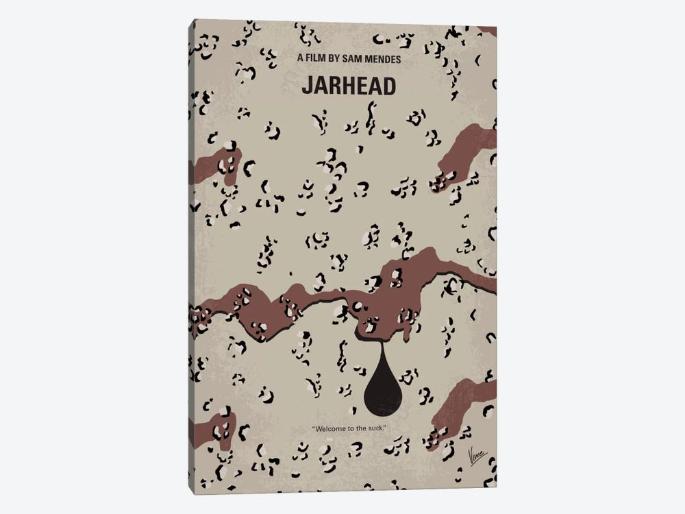Jarhead Minimal Movie Poster by Chungkong 1-piece Canvas Art Print