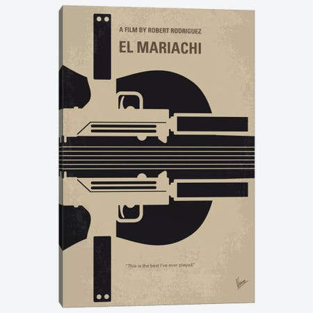 El Mariachi Minimal Movie Poster 3-Piece Canvas #CKG5} by Chungkong Canvas Wall Art