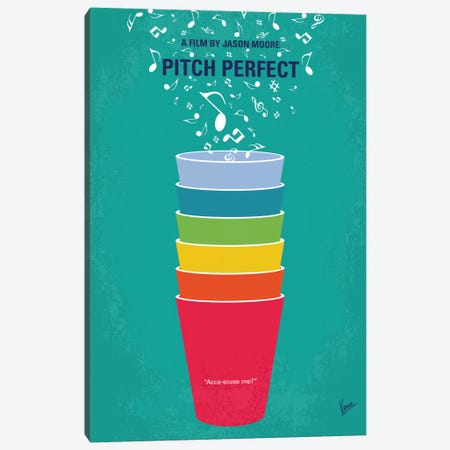 Pitch Perfect Minimal Movie Poster Canvas Print #CKG601} by Chungkong Canvas Art Print
