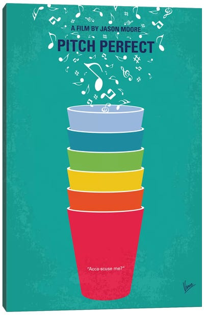 Pitch Perfect Minimal Movie Poster Canvas Print #CKG601