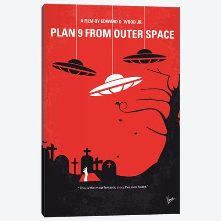 Plan 9 From Outer Space Minimal Movie Poster Canvas Print #CKG602} by Chungkong Canvas Art Print