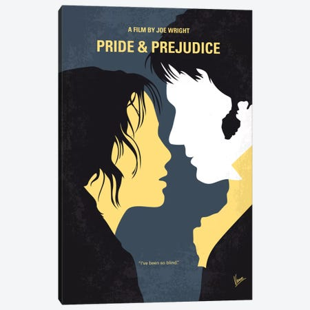 Pride And Prejudice Minimal Movie Poster Canvas Print #CKG604} by Chungkong Canvas Wall Art