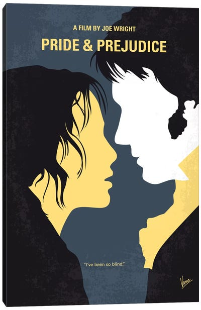 Pride And Prejudice Minimal Movie Poster Canvas Art Print