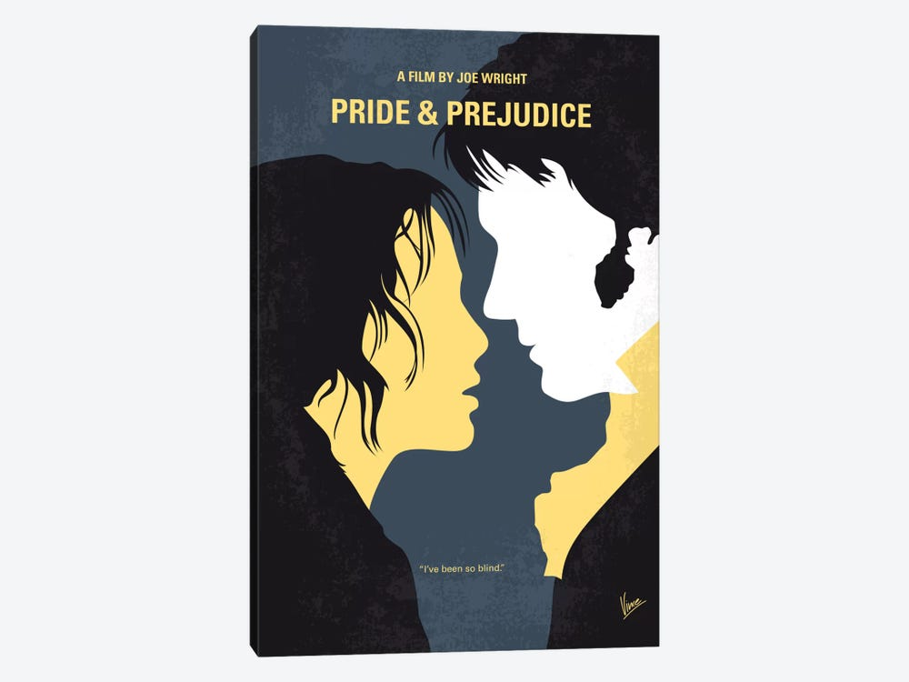 Pride And Prejudice Minimal Movie Poster by Chungkong 1-piece Art Print