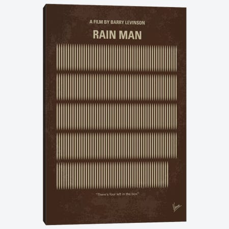 Rain Man Minimal Movie Poster Canvas Print #CKG605} by Chungkong Canvas Artwork