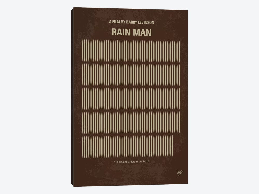 Rain Man Minimal Movie Poster by Chungkong 1-piece Canvas Artwork
