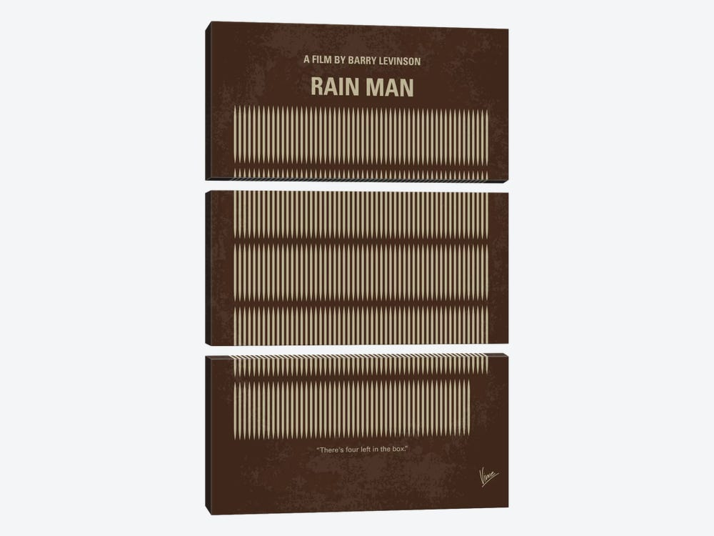 Rain Man Minimal Movie Poster by Chungkong 3-piece Canvas Wall Art