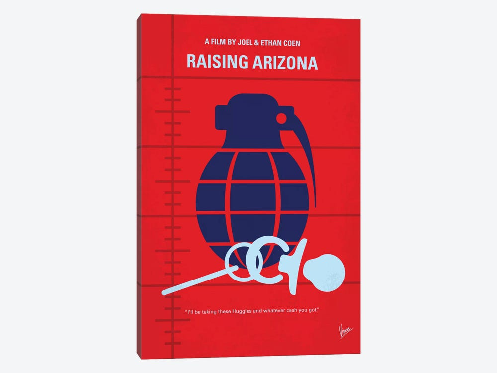 Raising Arizona Minimal Movie Poster by Chungkong 1-piece Art Print