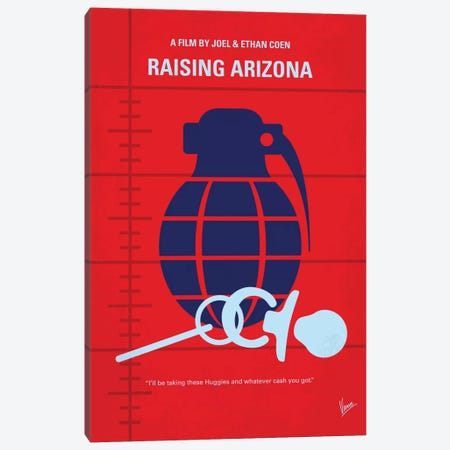 Raising Arizona Minimal Movie Poster Canvas Print #CKG606} by Chungkong Canvas Wall Art