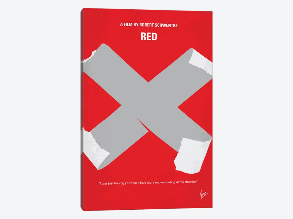 RED Minimal Movie Poster by Chungkong 1-piece Canvas Art