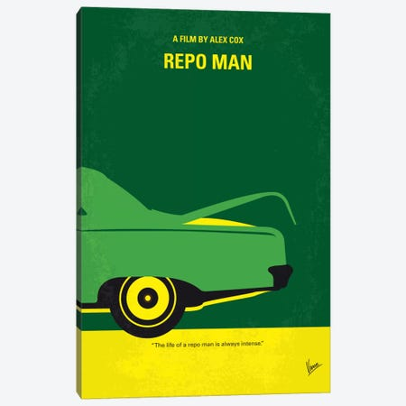 Repo Man Minimal Movie Poster Canvas Print #CKG608} by Chungkong Art Print