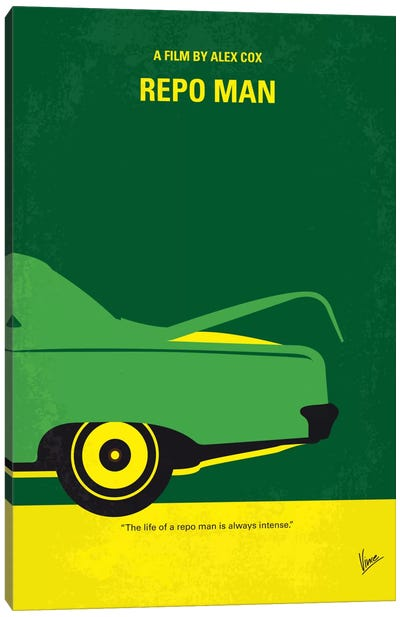 Repo Man Minimal Movie Poster Canvas Art Print