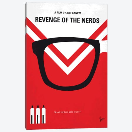 Revenge Of The Nerds Minimal Movie Poster Canvas Print #CKG609} by Chungkong Canvas Art Print