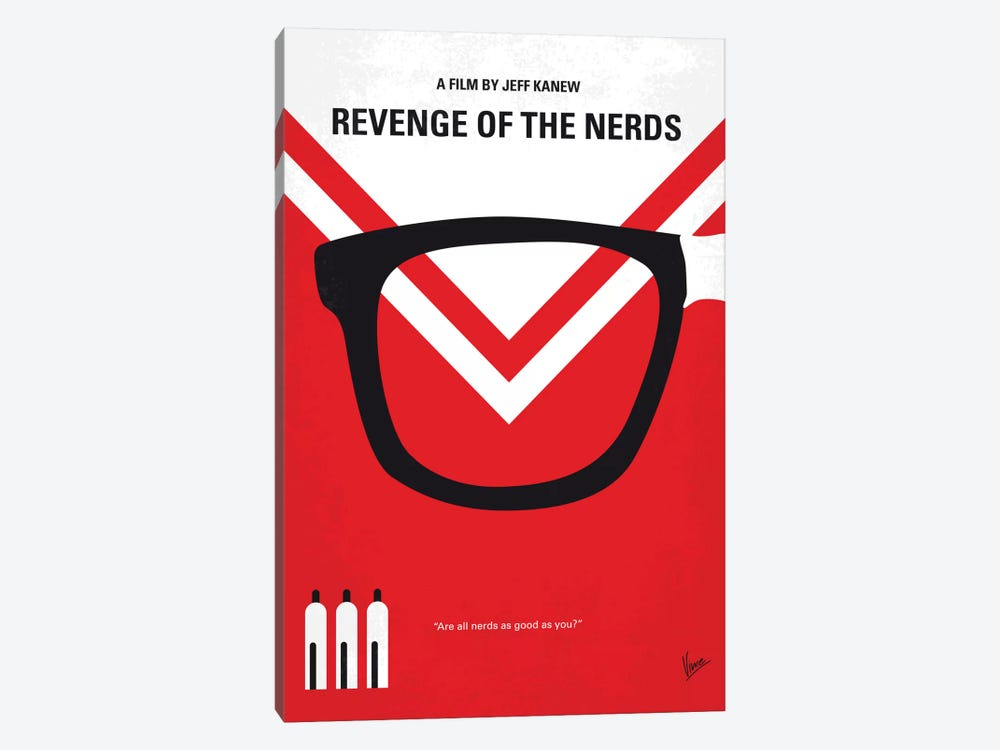 Revenge Of The Nerds Minimal Movie Poster by Chungkong 1-piece Canvas Wall Art