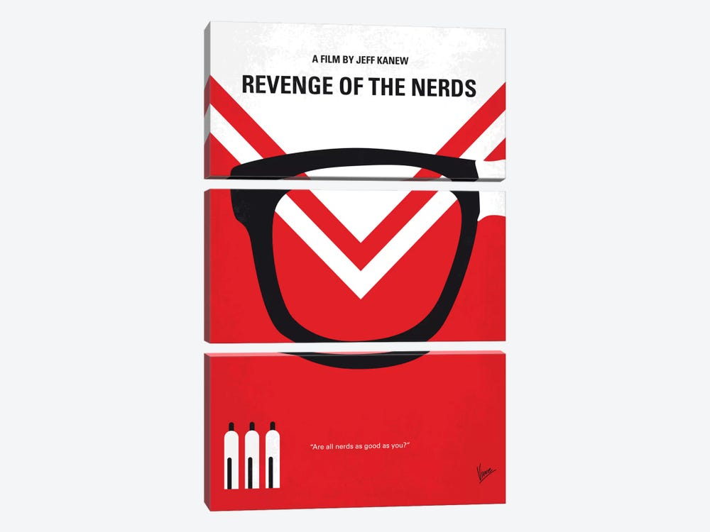 Revenge Of The Nerds Minimal Movie Poster by Chungkong 3-piece Canvas Art