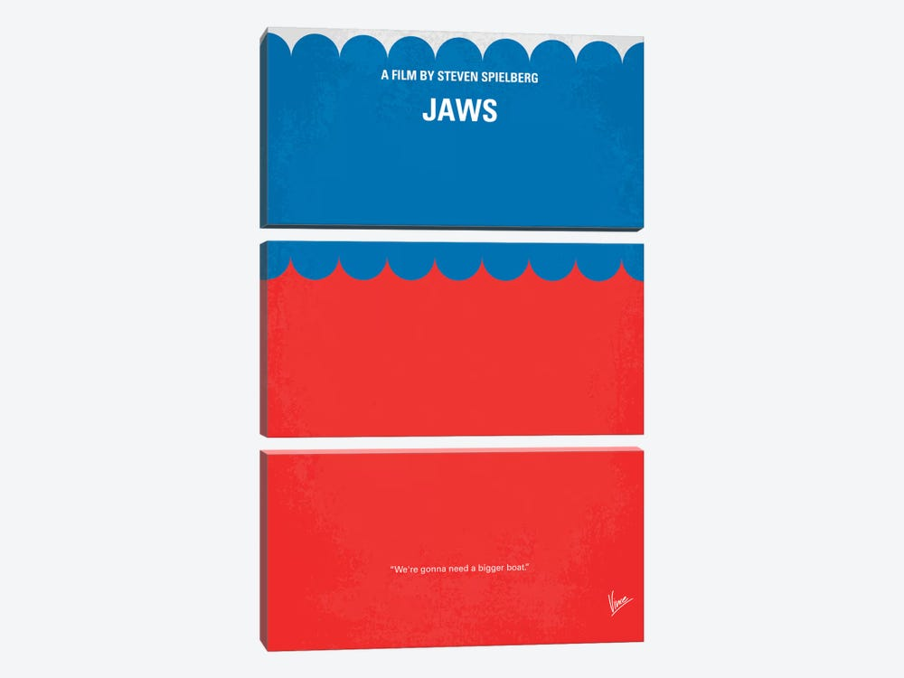 Jaws Minimal Movie Poster by Chungkong 3-piece Art Print