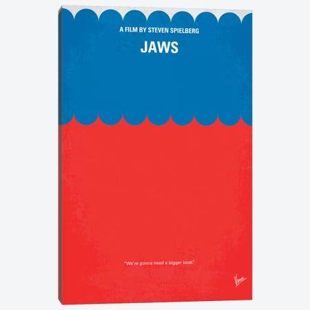 Jaws Minimal Movie Poster Canvas Print #CKG60} by Chungkong Canvas Print