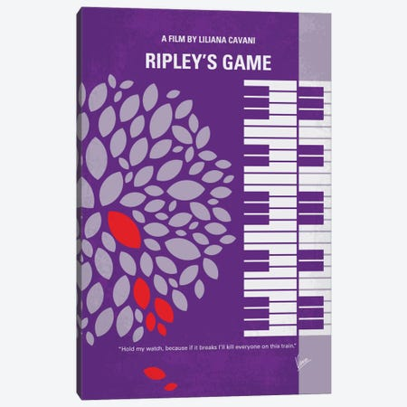 Ripley's Game Minimal Movie Poster Canvas Print #CKG610} by Chungkong Canvas Artwork