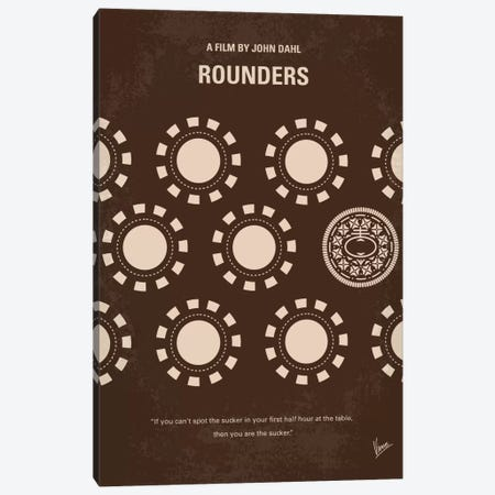 Rounders Minimal Movie Poster Canvas Print #CKG611} by Chungkong Canvas Artwork
