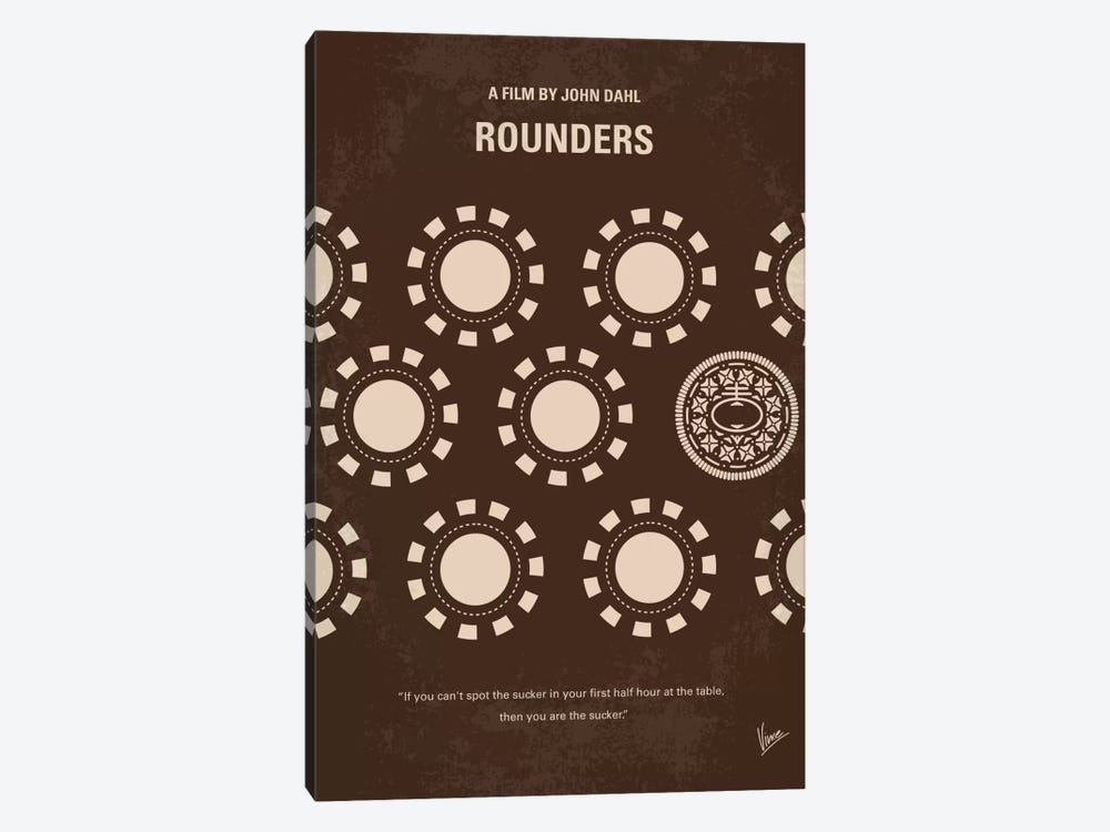 Rounders Minimal Movie Poster by Chungkong 1-piece Canvas Print