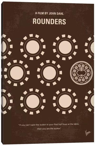 Rounders Minimal Movie Poster Canvas Art Print