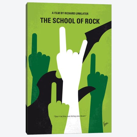 School Of Rock Minimal Movie Poster Canvas Print #CKG612} by Chungkong Canvas Artwork