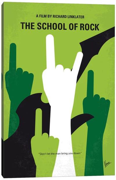 School Of Rock Minimal Movie Poster Canvas Art Print