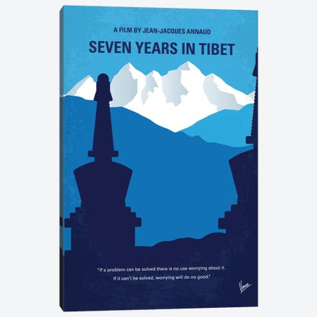 Seven Years In Tibet Minimal Movie Poster Canvas Print #CKG613} by Chungkong Canvas Art