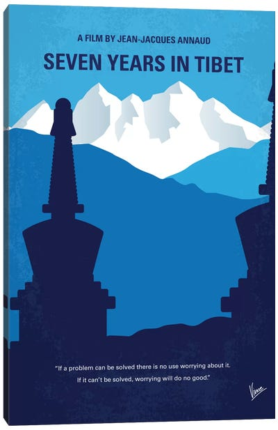 Seven Years In Tibet Minimal Movie Poster Canvas Print #CKG613