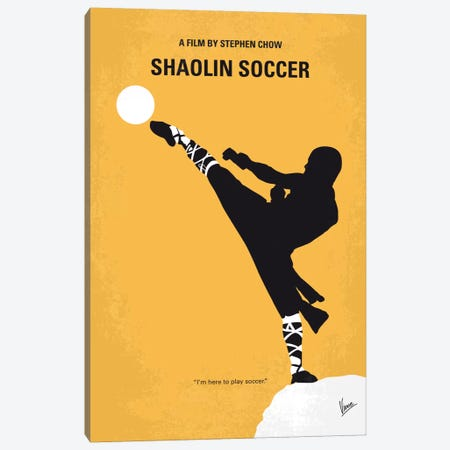 Shaolin Soccer Minimal Movie Poster Canvas Print #CKG614} by Chungkong Canvas Print