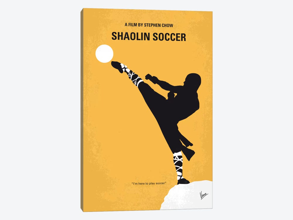 Shaolin Soccer Minimal Movie Poster by Chungkong 1-piece Canvas Art