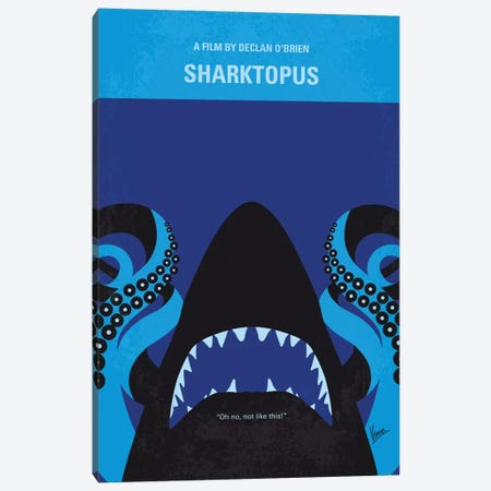 Sharktopus Minimal Movie Poster Canvas Print #CKG615} by Chungkong Canvas Print