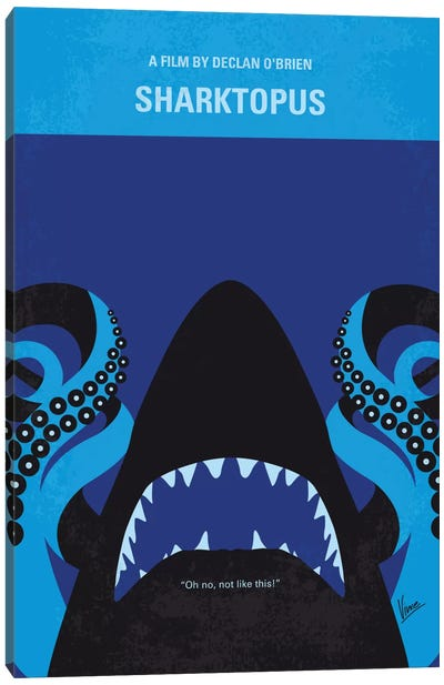 Sharktopus Minimal Movie Poster Canvas Art Print