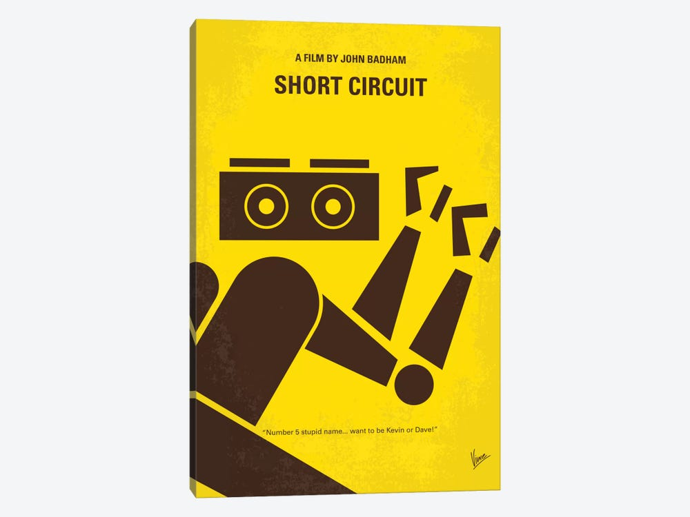 Short Circuit Minimal Movie Poster by Chungkong 1-piece Art Print