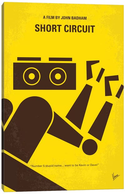 Short Circuit Minimal Movie Poster Canvas Art Print