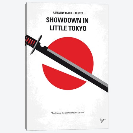 Showdown In Little Tokyo Minimal Movie Poster Canvas Print #CKG618} by Chungkong Canvas Wall Art